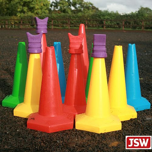 Light Pole Jumps: Pole Cone Cups Training Aids For Cones & Show Jumps From JSW