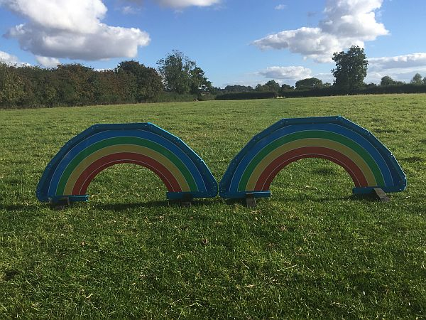 Rainbow 2 Piece Standing Fillers Wonderful Arched Design